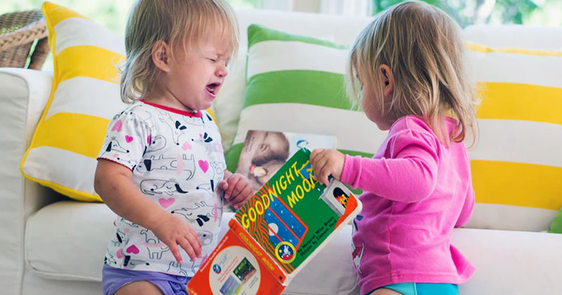 18 month old tantrum over book